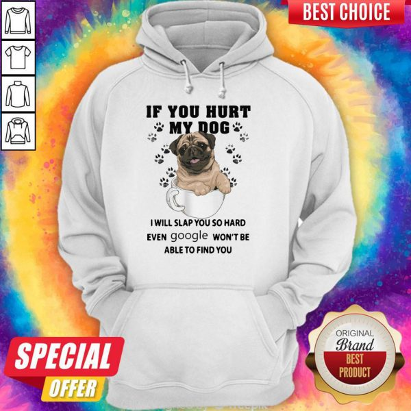 Nice If You Hurt My Dog I Will Slap You So Hard Even Google Wont Be Able To Find You Dog Hoodie