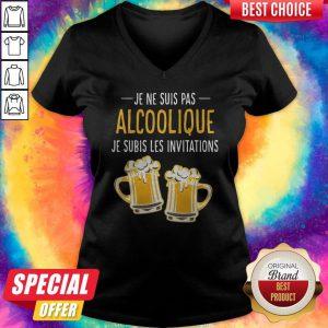 Pretty Beer Je Ne Suis Pas Alcoolique Je Subis Les Invitations V-neck