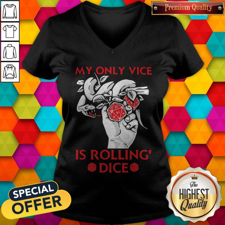 Pretty Game My Only Vice Is Rolling' Dice V-neck