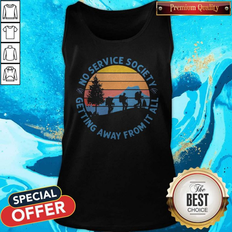 Pretty No Service Society Getting Away From It All Vintage Tank Top