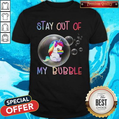 Pretty Stay Out Of My Bubble Horse LGBT Covid Shirt