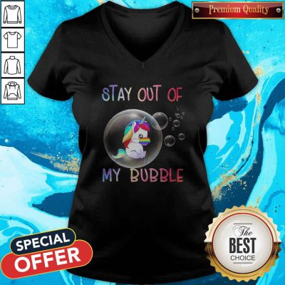 Pretty Stay Out Of My Bubble Horse LGBT Covid V-neck