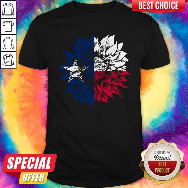 Wonderful I Want Sunflower Texas Flag Shirt