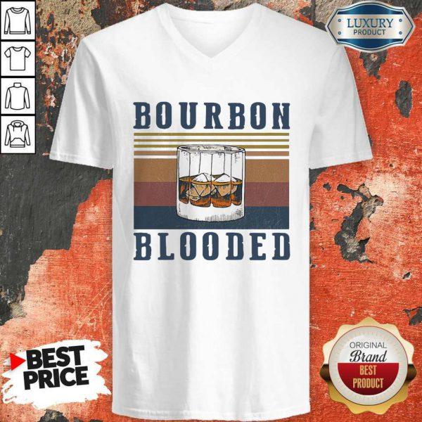 Wonderful Wine Bourbon Blooded Vintage V-neck