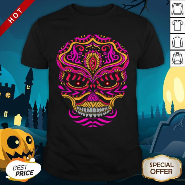 Abstract Day Of The Dead Sugar Skull Shirt