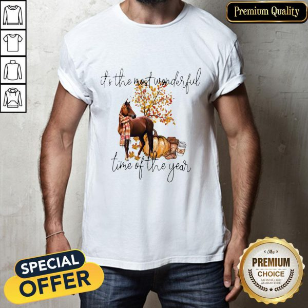 Autumn Horse It's The Most Wonderful Time Of The Year Shirt