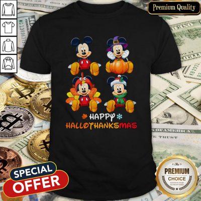 Awesome Mickey Mouse Happy Hallothanksmas Shirt