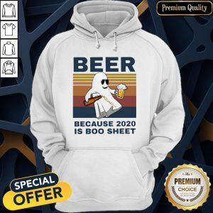 Beer Because 2020 Is Boo Sheet Vintage Hoodie