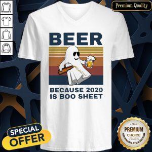 Beer Because 2020 Is Boo Sheet Vintage V-neck