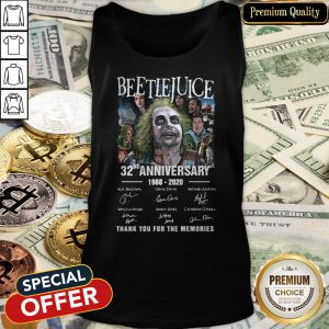 Beetlejuice 32nd Anniversary 1988-2020 Thank You For The Memories Tank Top