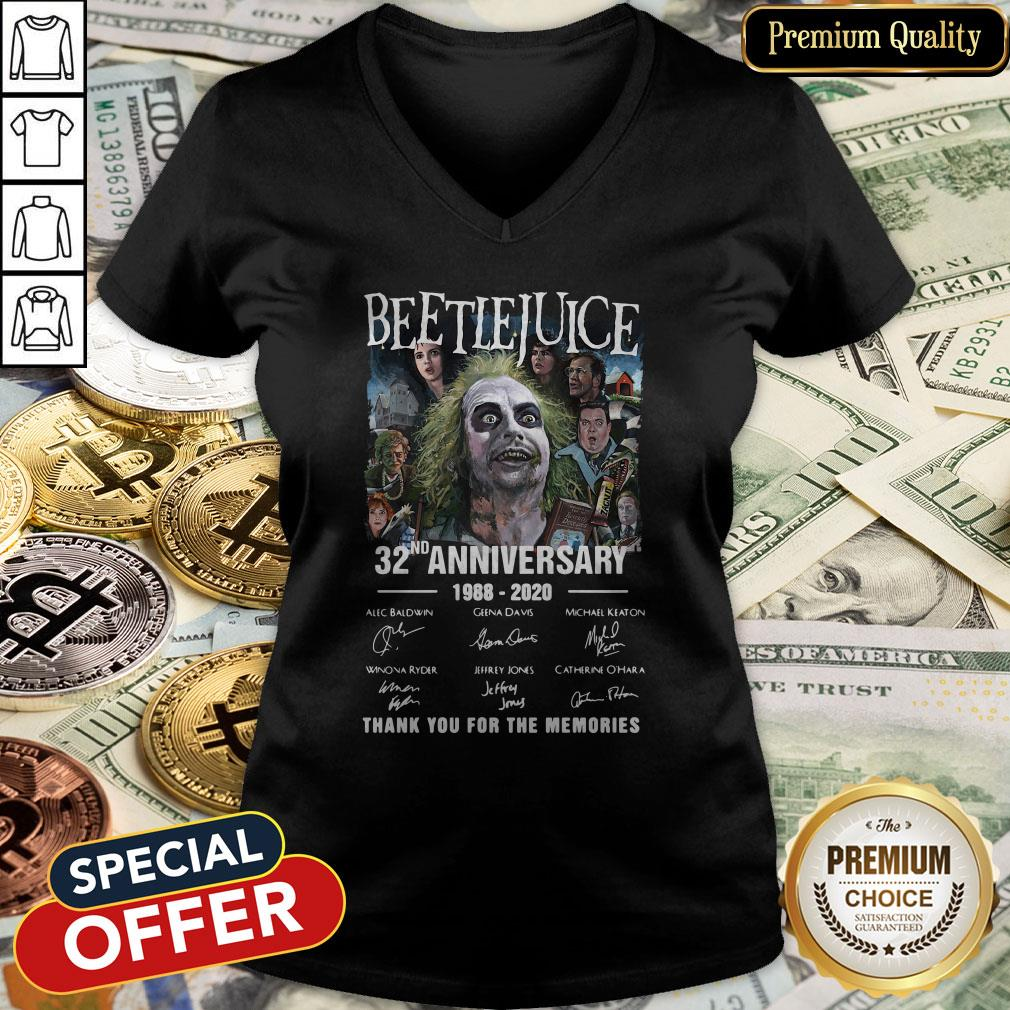 Beetlejuice 32nd Anniversary 1988-2020 Thank You For The Memories V-neck