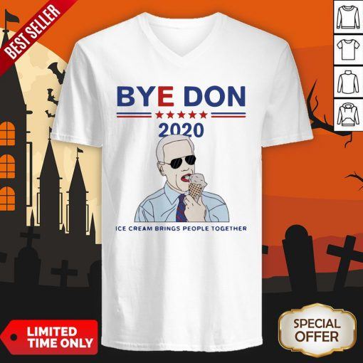 Byedon 2020 Ice Cream Brings People Together V-neck