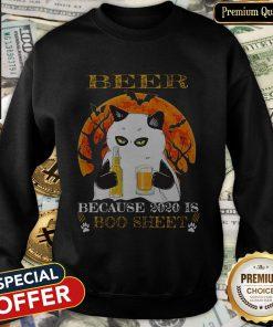 Cat Beer Because 2020 Is Boo Sheet Halloween SweatShirt