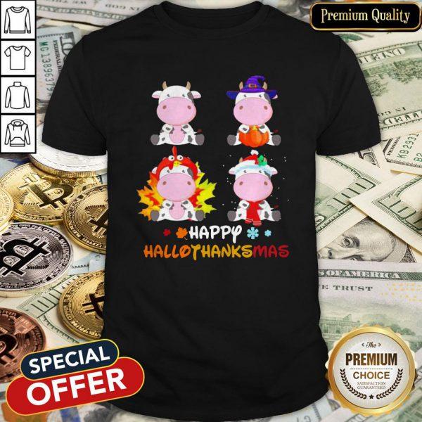 Dairy Cows Chibi Happy Hallothanksmas Halloween Shirt