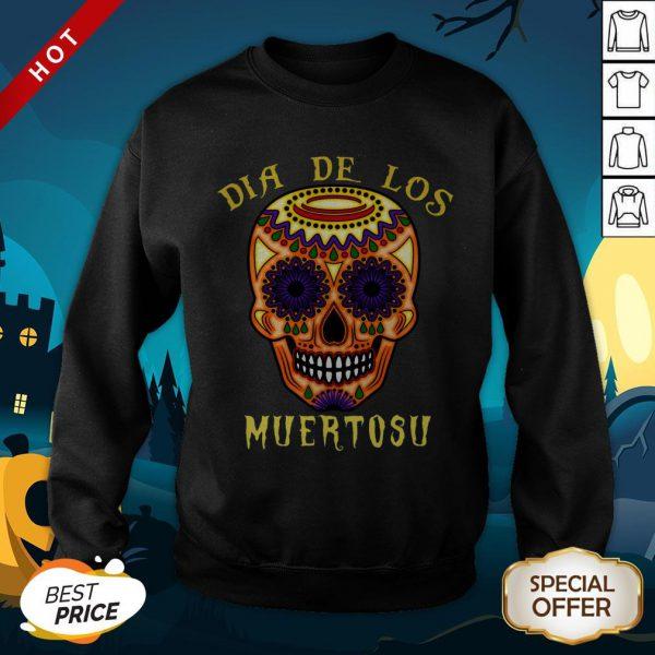 Dia De Los Muertos Day Of The Dead Sugar Skull SweatShirt
