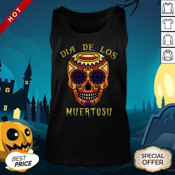 Dia De Los Muertos Day Of The Dead Sugar Skull Tank Top