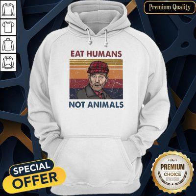 Eat Humans Not Animals Vintage Hoodie