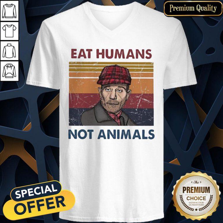 Eat Humans Not Animals Vintage V-neck