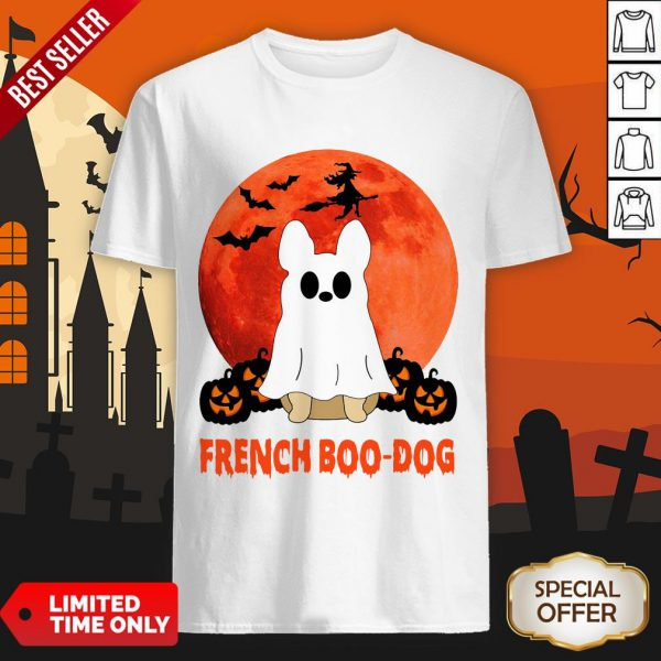 French Boo Dog Halloween Shirt
