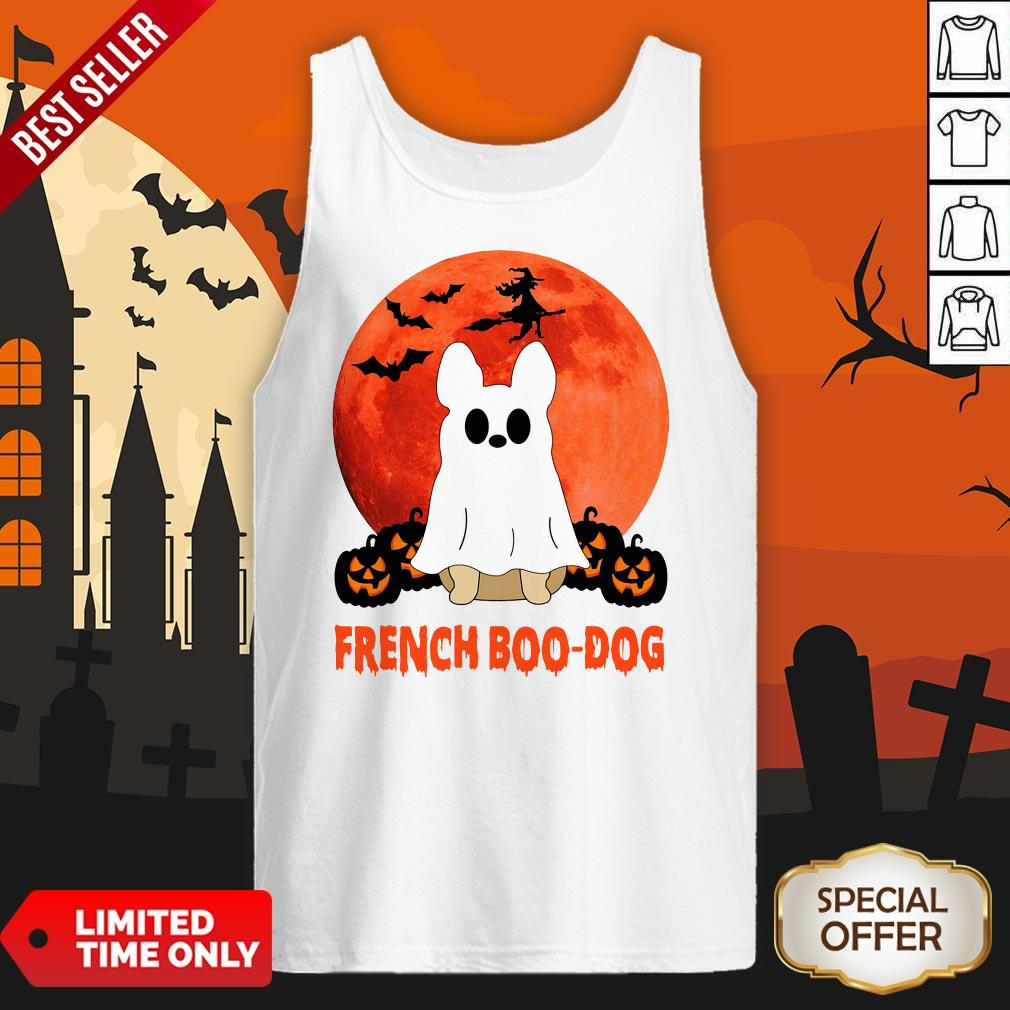 French Boo Dog Halloween Tank Top