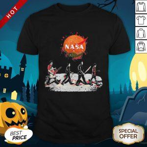 Halloween Horror Characters Nasa Logo Shirt