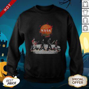 Halloween Horror Characters Nasa Logo SweatShirt