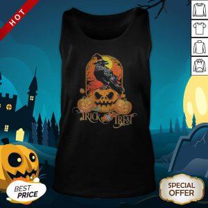 Halloween Raven Witch Trick Or Treat Pumpkins Tank Top