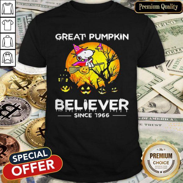 Halloween Snoopy Great Pumpkin Believer Since 1966 Shirt