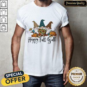 Happy Fall Y'all Gnomies Leopard Shirt