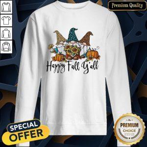 Happy Fall Y'all Gnomies Leopard SweatShirt