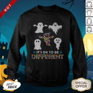 Its OK To Be Different Ghost Halloween SweatShirt