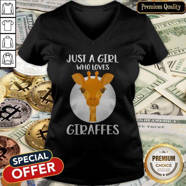 Just A Girl Who Loves Giraffes V-neck