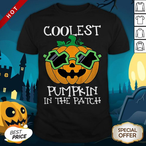 Kids Coolest Pumpkin In The Patch Halloween Costume Boys Gift Shirt