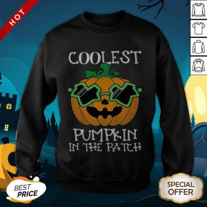 Kids Coolest Pumpkin In The Patch Halloween Costume Boys Gift Sweatshirt