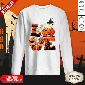 Love Halloween Shorkie Witch Turtle SweatShirt