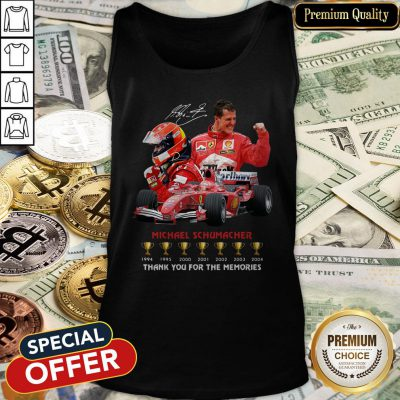 Michael Schumacher 1994-2004 Thank You For The Memories Signature Tank Top