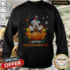 Mickey Mouse Happy Hallothanksmas SweatShirt