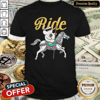 Official Ride Kitty Riding Horse LGBT Pride Shirt