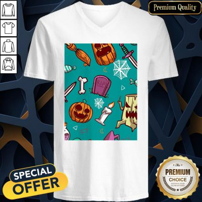 Official Spooky Happy Halloween Day 2020 V-neck