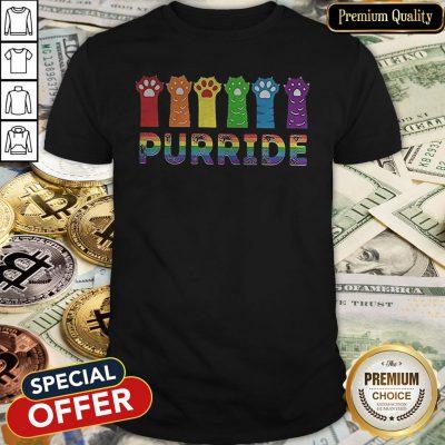 Premium Paws Cat Purride LGBT Shirt