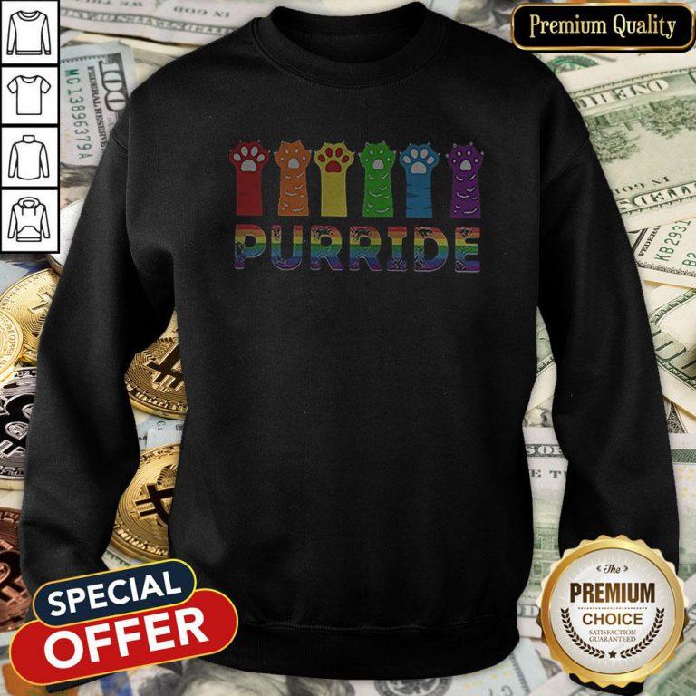 Premium Paws Cat Purride LGBT Sweatshirt