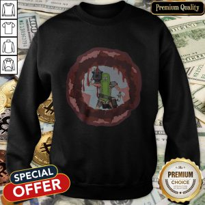 Rick And Morty Badass Pickle Rick Blow A Hole In The Chest SweatShirt