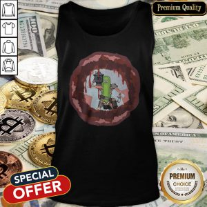 Rick And Morty Badass Pickle Rick Blow A Hole In The Chest Tank Top