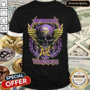 Skull Metallic Vikings Halloween Shirt