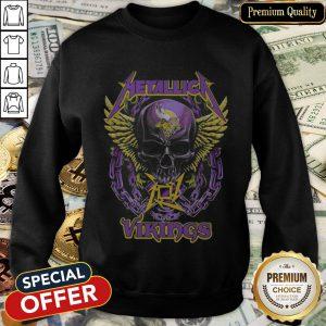 Skull Metallic Vikings Halloween SweatShirt