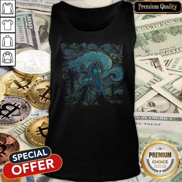 The Starry Night Rick And Morty Tank Top
