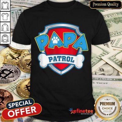 Awesome Mens Papa Patrol Dog Mom Shirt- Design By Refinetee.com