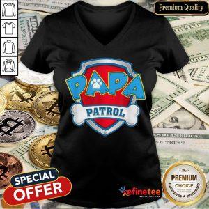 Awesome Mens Papa Patrol Dog Mom V-neck- Design By Refinetee.com