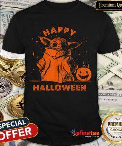 Baby Yoda Star Wars The Mandalorian The Child Happy Halloween Shirt