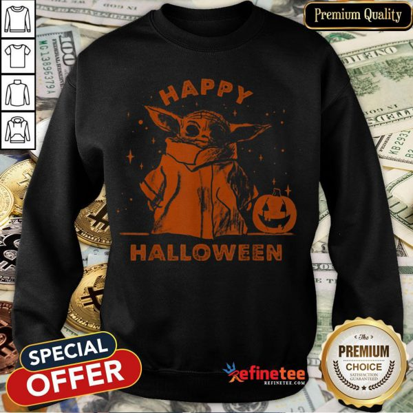 Baby Yoda Star Wars The Mandalorian The Child Happy Halloween Sweatshirt